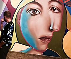 andalucia: the other dora maar (gregjack!) Tags: spain andalucia malaga streetphotography streetart art mural picasso doramaar people man motion colour