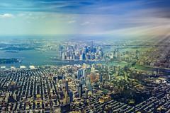 Landing in NY (Arutemu) Tags: america american a7r us usa urban unitedstates nyc ny newyork newyorkcity manhattan metropolis mirrorless city cityscape airplane airtravel airborne aircraft air plane streets