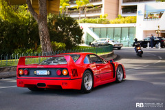 Ferrari F40 (Raphal Belly Photography) Tags: rb raphal monaco principality principaut mc montecarlo monte 98000 carlo hotel de paris french riviera south france luxury supercar supercars spotting car cars voiture automobile raphael belly canon eos 7d photographie photography casino fight aids 2016 children future ferrari f40 f 40 quanrante forty red rouge rosso rossa