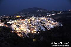 Santorini Fira by Night