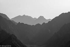 It is not the mountain we conquer but ourselves... (EHA73) Tags: aposummicronm1290asph leica leicamm typ246 blackandwhite bw hatta dubai uae travel adventure climbing