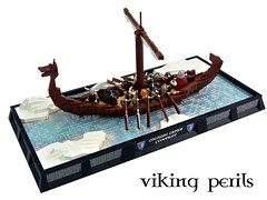 Viking Perils (Disco86) Tags: lego moc colossal castle contest xxiv medieval viking boat ship north ice sea row sail