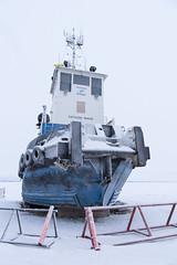 Fathom Wave (Shane Sadoway) Tags: fathom wave tug boat beached tuktoyaktuk arctic canadian ship vessel blue ice