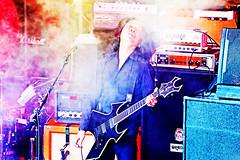 Happy Birthday, Takeshi (Boris) (kirstiecat) Tags: takeshi band live concert boris japanese music smoke cinematic canon takeshiohtani moog orangeamp gear amps