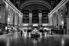 Grand Central Station (Miles Frankland) Tags: miles frankland milesstephencouk stephen black white bw monochrome america usa north atlantic plate tectonic subway rail station grand central manhattan nyc new york jersey hamptons maccys dog cat dirty clean clarity homeless train people commute skyline iconic landscape high contrast exposure slow shutter fast street photography hood statue liberty flag stars stripes murica vignette land free home young photo 2016