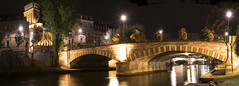 stirring up some Strasbourg bridge trolls ;) (lunaryuna) Tags: france lalsace strasbourg urban city bridges panorama panoramicviews strasbourgbridges riverill architecture buildings lanterns nightlights nightphotography nocturnalphotography citynights illumination le longexposure walkinthecity river lunaryuna