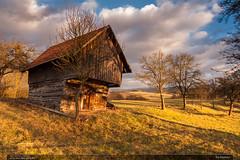 Na Baslovci (jirka.zapalka) Tags: winter czech landscape clouds vizovice meadow village trees building