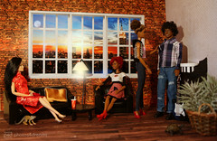 friday evening chillout / n.y. (photos4dreams) Tags: meanwhiledowntownp4d aa barbie regularlifeinthedollhouse doll photos4dreams p4d photos4dreamz toy puppe dress mattel barbies girl play fashion fashionistas outfit kleider mode puppenstube tabletopphotography