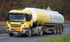 SCANIA P440 - DHL/MORRISONS Fuel (scotrailm 63A) Tags: lorries trucks dhl tankers morrisons