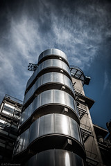 Metal monster (Anthony Plancherel) Tags: architecture category england external london places thecity travel architecturephotography modernbuildings modernarchitecture travelphotography sky bluesky clouds buildings officebuilding city capitalcity metal shapes pattern canon1585mm canon70d canon blue outdoor building wow
