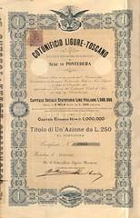 COTONIFICIO LIGURE-TOSCANO (scripofilia) Tags: 1901 azioni cotonificio ligure liguretoscano toscano
