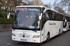 BJ62VOO  Owens, Oswestry (highlandreiver) Tags: edinburgh bj62voo bj62 voo owens coaches oswestry mercedes benz tourismo bus coach