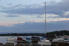 Boats and Clouds (Suzanne Guest) Tags: sky ontario clouds harbour parrysoundontario parrysoundharbour