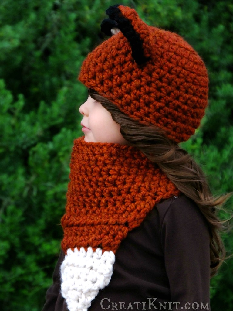 a54999c08e9 The Fáline Fox Hat and Cowl Crochet Pattern (CreatiKnit) Tags  winter  orange baby