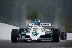 Williams F1 FW07C Alan Jones - Spa 6 Hours 2015 (Rmy | www.chtiphotocar.com) Tags: classic ford wet water car rain race one photo championship nikon track open williams wheels wing sigma f1 racing historic formula hours masters franck six legend circuit spa fia v8 lightroom cosworth francorchamps fw07c