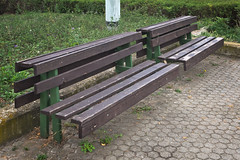 On the Singularity of Ugliness (Goran Patlejch) Tags: park wood grass bench prague prag praha praga nobody ugly patlejch gntx goenetix patlejh
