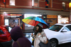 Laughing In the Rain (Ewan Arnolda Photography) Tags: life winter friends people urban rain laughing umbrella fun outdoors emotion streetphotography melbourne canoneos5diii