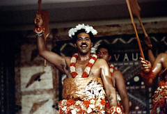 29-128 (ndpa / s. lundeen, archivist) Tags: people man color men film festival fiji 35mm clothing dancers dancing stage traditional nick group performance feathers paddle culture suva lei clothes southpacific oar 29 tradition leis 1970s performers 1972 oars paddles dewolf oceania fijian pacificartsfestival pacificislands festivalofpacificarts southpacificislands nickdewolf photographbynickdewolf festpac pacificislandculture southpacificfestival reel29 southpacificartsfestival southpacificfestivalofarts feathersinhishair fiji72 feathersintheirhair