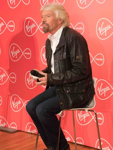 RICHARD BRANSON INTRODUCES VIRGIN MEDIA TO THE PRESS [1st. October 2015] REF-10858509
