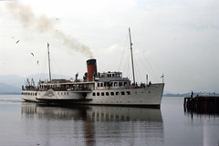 2044.  MAID OF THE LOCH. (Ron Fisher) Tags: uk greatbritain lake water boats scotland unitedkingdom gb 1975 loch lochlomond paddlesteamer maidoftheloch