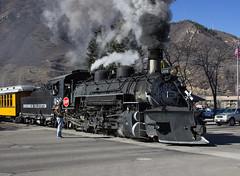 Getting the Train Underway (Conrail4ever) Tags: mountains train colorado silverton trains steam gauge narrow durango engineer dsng k36