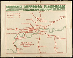 Women's Suffrage Pilgrimage Map1913-07-26