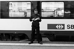 READY (unkreativist) Tags: street blackandwhite bw monochrome train photography switzerland streetphotography trainstation stories bnw einfarbig streetstories streethunters x100t thosestreetstories