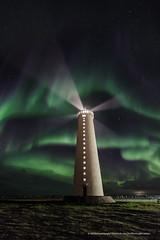 The lights of my life. :) (Kjartan Guðmundur) Tags: nightphotography lighthouse canon landscape iceland ngc nocturne ísland garður northernlights auroraborealis norðurljós canoneos5dmarkiii tokinaatx1628mmf28profx kjartanguðmundur