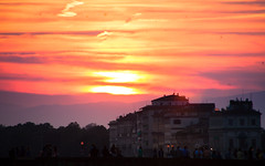 (GaRiTsanG) Tags: travel light sunset shadow italy sun canon florence 40d