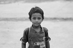 Faces of Indore (Mithaq Kazimi) Tags: travel camp portrait people blackandwhite woman india man beauty kids children outdoors model education child faces indian models desi bahai indore classes bahais bahaiyouth childrenclasses