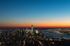 DSC_0269 (amandatanguyen) Tags: city nyc newyorkcity sunset sky urban ny newyork building skyline lights nikon manhattan thecity empire empirestatebuilding empirestate nikond3200