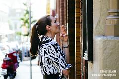 Woman smoking outside restaurant - Melbourne (Naomi Rahim (thanks for 5 million visits)) Tags: street city travel portrait girl person spring nikon chinatown bokeh smoke streetphotography australia melbourne victoria smoking qantas 2015 travelphotography nikond7000 instameet qfinstamel