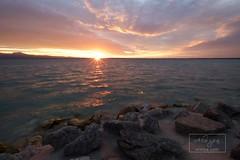 Sirmione (Italy) (ALWIPA.com) Tags: italy cloud sun lake reflection clouds lago dawn garda nuvole nuvola alba sirmione alwipa