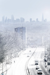 Happy 2016 All (www.nick-moore.com) Tags: city winter snow london skyline day view snowy district sunny crisp docklands archway highgate blizzard iconic financial winters dusting lodnon