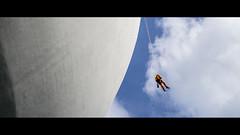 Abseil-utely Clean (Splice Studios Singapore) Tags: leica sky orange 50mm climb singapore asia climbing descend cleaner cinematic summilux mountaineer mbs kenn abseil summiluxm marinabaysands delbridge leicat artssciencemuseum kenndelbridge