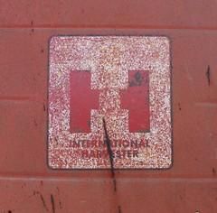 International Harvester (K Garrett) Tags: internationaltractor internationalharvester international caseih ih logo mccormick farmall farmalltractor red rusty crusty vintage track
