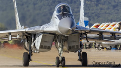 Slovak Air Force MiG-29AS Fulcrum (Caspar Smit) Tags: mig mig29 mikoyangurevich 0921 slovak sliac siaf aircraft fighter jet aviation airforce airshow nikon d7000 lzsl airplane