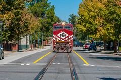 (i nikon) Tags: norfolk southern lehigh valley heritage unit downtown augusta ga train street running