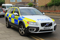 Northumbria Police Volvo XC70 Armed Response Vehicle (PFB-999) Tags: northumbria norpol police volvo xc70 estate armed response vehicle car unit arv firearms lightbar grilles fendoffs wing mirror lights leds ae13clf sunderland airshow 2016