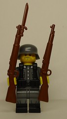 BrickArms Gewehr 98 Prototype and Production Kar98k Comparison (enigmabadger) Tags: brickarms lego custom minifig minifigure fig weapon weapons accessory accessories combat war world battlefield one proto prototype protoz german british american history historical great