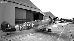 G-LFVB / CBAF.2403 - Supermarine Spitfire LF Mk Vb (Laurent Quérité) Tags: thefightercollection supermarine spitfire ba115 warbird canonefs1022mmf3545usm blackwhite avion aviation aéronef canoneos450d orangecaritat militaryaircraft glfvb france