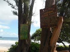 Koki Beach Warning Signs (jimmywayne) Tags: hawaii mauicounty maui hana kokibeach coast ocean warning sign