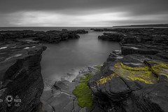 Natural Rockpool near Cliffs of Moher (thephotobulb) Tags: landscape photographer seascape photography black white bw fine art image long exposure monochrome photo photograph clouds cloud exposition ocean sea minimalism minimalistic blackandwhite lee filters coast lighthouse ireland co clare rockpool pool cliffs moher