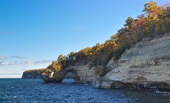 Lovers Leap! (peddhapati) Tags: shingleton michigan unitedstates pictured rocks mi nature outdoors fall autumncolors scenic beautiful bhaskarpeddhapati nikond90 nikkor landscape water superior lake sunny formation travel 2016 geotagged cruise