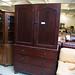 Mahogany tall 2 door three drawer linen press â¬400