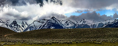 Panoramic-View-from-Bridgeport-CA (sara silver) Tags: mountains backlit sunshine sky snow panorama wow