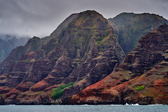 NaPali Coast of Kauai (AgarwalArun) Tags: sonya7m2 sonyilce7m2 hawaii kauai island landscape scenic nature views mountain fog clouds storm weather napalicoast pacificocean ocean water waves surf napali ruggedcoastline cliffs
