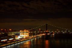 Manhattan bridge (debreczeniemoke) Tags: usa unitedstates amerikaiegyesltllamok newyork cityofnewyork newyorkcity thecity stateofnewyork manhattan manhattanbridge night olympusem5