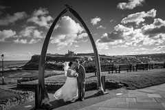 DSC_4495 (jameshowardphotography) Tags: whitby white water wedding black beach bride bones whale clouds contrast church abbey vintage view grass groom dress framed town mono monochrome cross coast cliffs