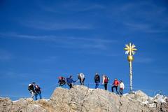 Zugspitze Klettersteig Crest (decineper) Tags: mountain climbing hiking rock cliff summit peak cross hllental hollental zugspitze klettersteig viaferrata apls germany